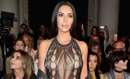Kim Kardashian and Kourtney Kardashian at Paris Fashion Week: Who Needs Pants?!?