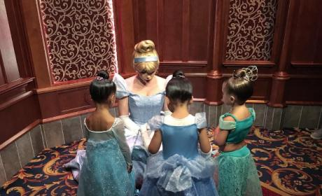 North West and Penelope Disick meet with Cinderella