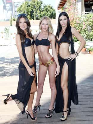 Alessandra Ambrosio, Candice Swanepoel, and Adriana Lima