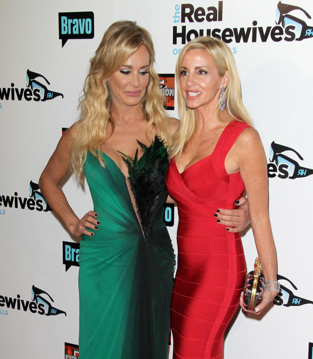 Taylor Armstrong and Camille Grammer