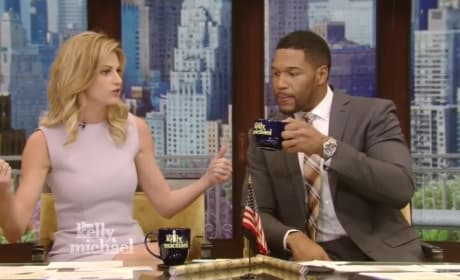 Michael Strahan and Erin Andrews on Live!
