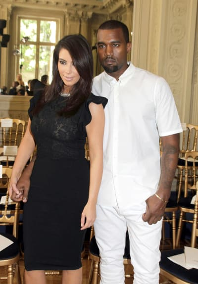 Kim Kardashian and Kanye West in Paris
