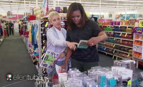 Michelle Obama Shops with Ellen DeGeneres