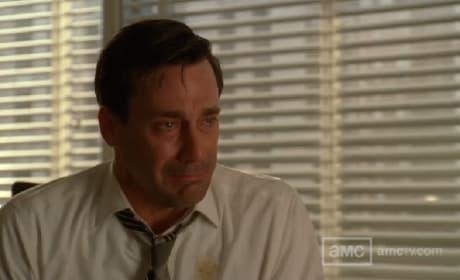 Don Draper Crying