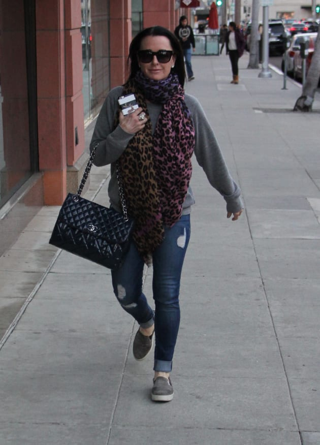 Kyle Richards Heads To Her Beverly Hills Store