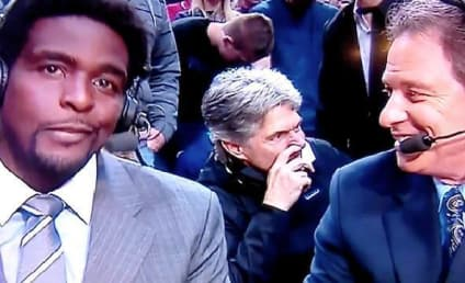 Dude Picks Nose, Winks at Camera Behind TNT Basketball Announcers