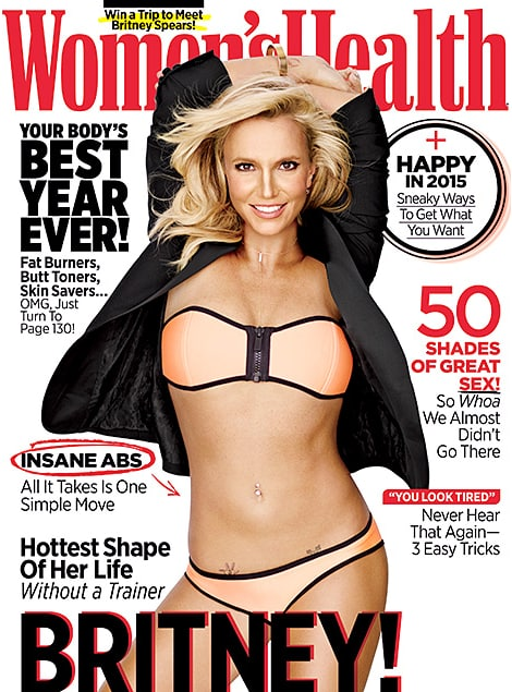Britney spears womens health cover