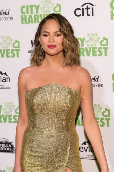 Chrissy Teigen in a Dress