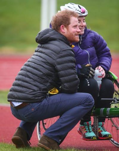 Prince Harry Speaks With RAF Medic Anna Pollock