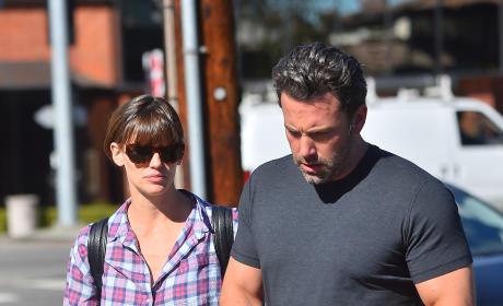 Ben Affleck and Jennifer Garner leave Tavern in Brentwood