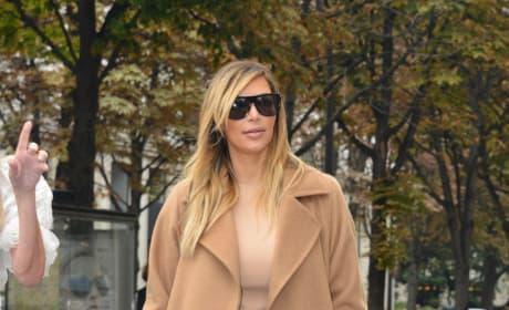Kim Kardashian in Beige