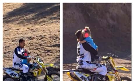 Carey Hart taking his daughter Willow riding on his bike is ...