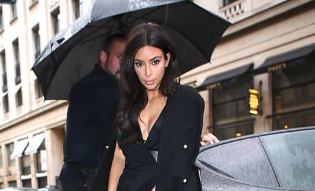 Kim Kardashian: Rain in Paris Photo