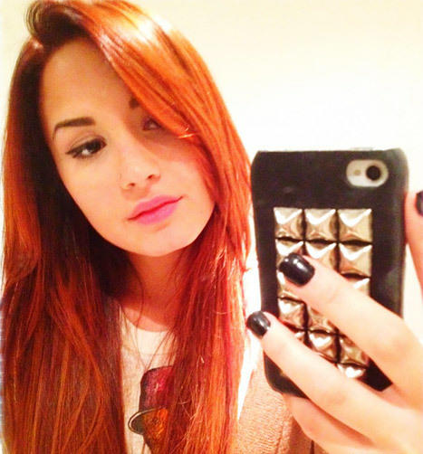 Demi Lovato Red Hair Pic