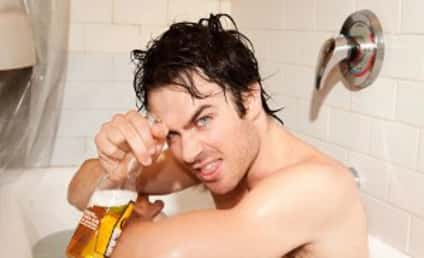 Ian Somerhalder: Naked! With Beer! And Chinese Food!