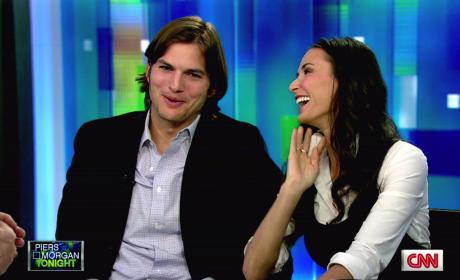 Ashton Kutcher and Demi Moore on Piers Morgan Tonight