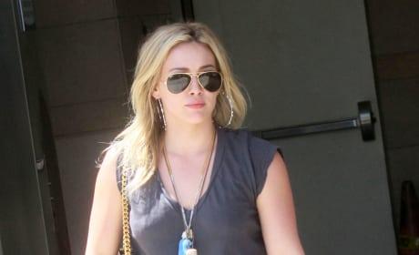 Hilary Duff on the Street