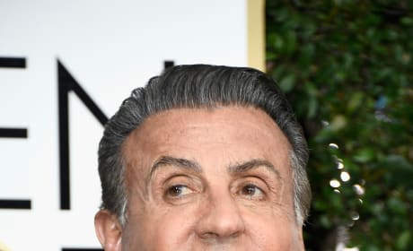 Sylvester Stallone at the Golden Globes