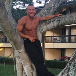 Nathan Griffith in a Tree