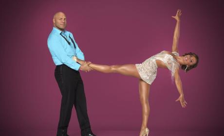 Randy Couture and Karina Smirnoff Pic