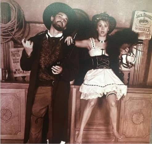 Kaley Cuoco and Ryan Sweeting Old West Photo