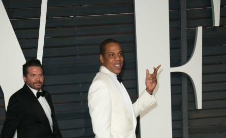 Jay-Z at Vanity Fair Oscars After Party