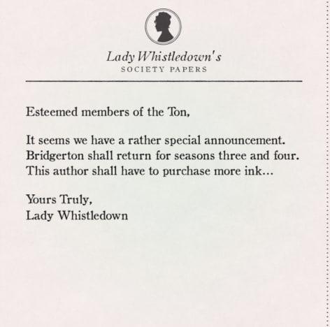 Bridgerton post