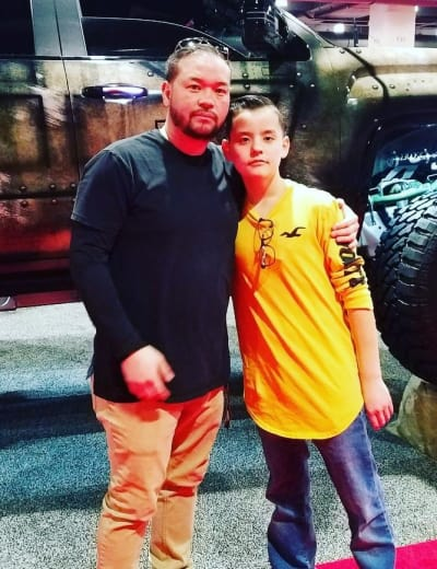 Jon Gosselin and Collin Gosselin, Philly Auto Show
