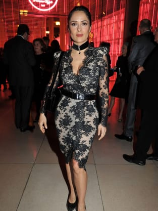Salma Hayek Lace Dress