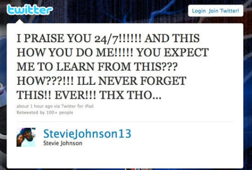 Steve Johnson Tweet