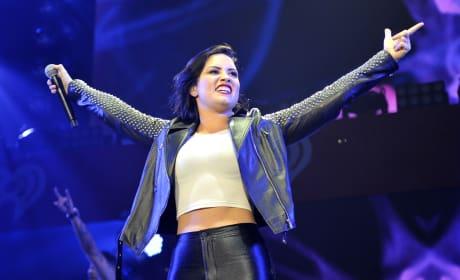 Demi Lovato Soaks It In