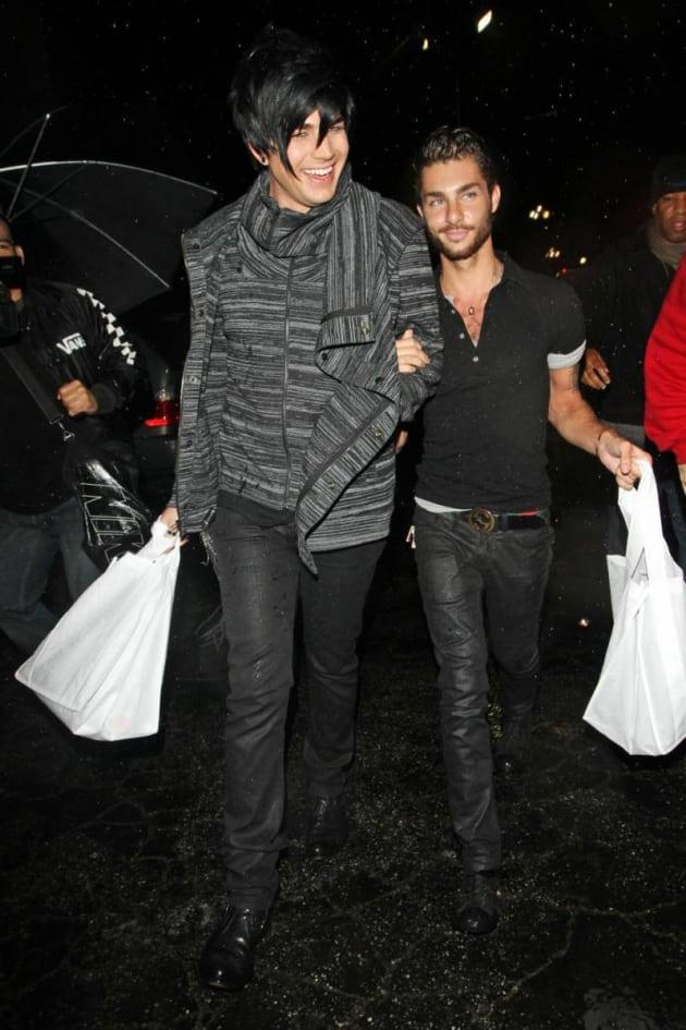 Adam Lambert And Drake Labry Cute Kissing Couple The