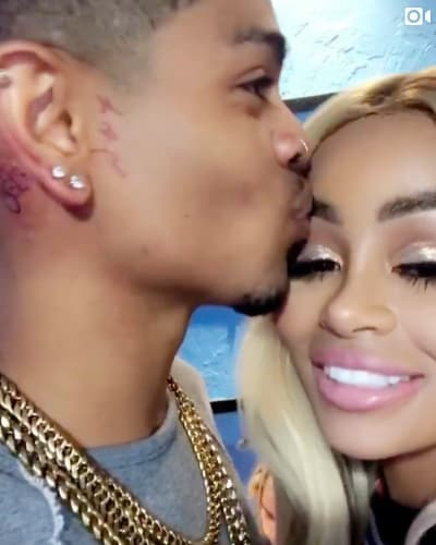 Mechie Kisses Blac Chyna