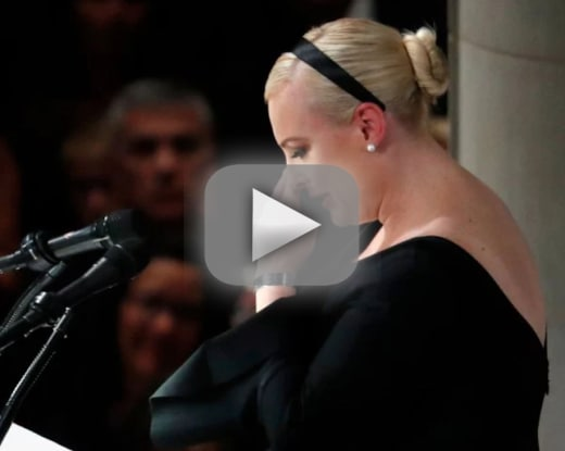 Meghan mccain eulogizes her dad destroys donald trump in the pro