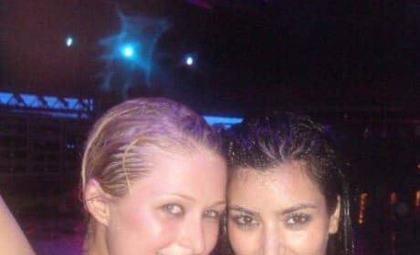 Paris Hilton and Kim Kardashian Throwback