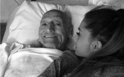 Ariana Grande With Grandfather