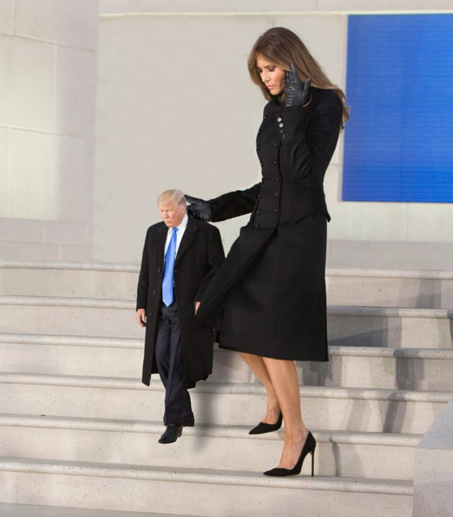 Tiny Trump With Melania