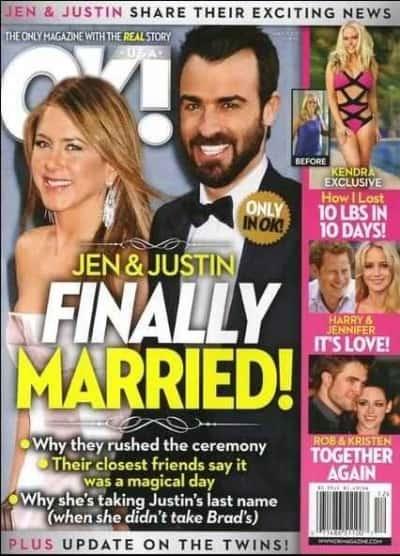 Jennifer Aniston OK! Magazine Cover