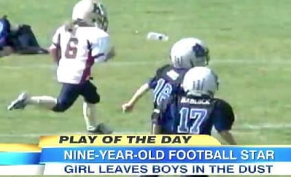 Sam Gordon, 9 Year Old Girl, DOMINATES Boys in Football