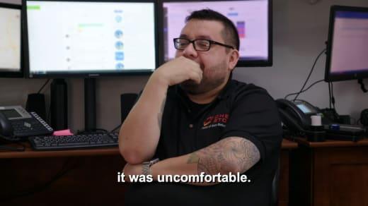 tech guy - it was uncomfortable