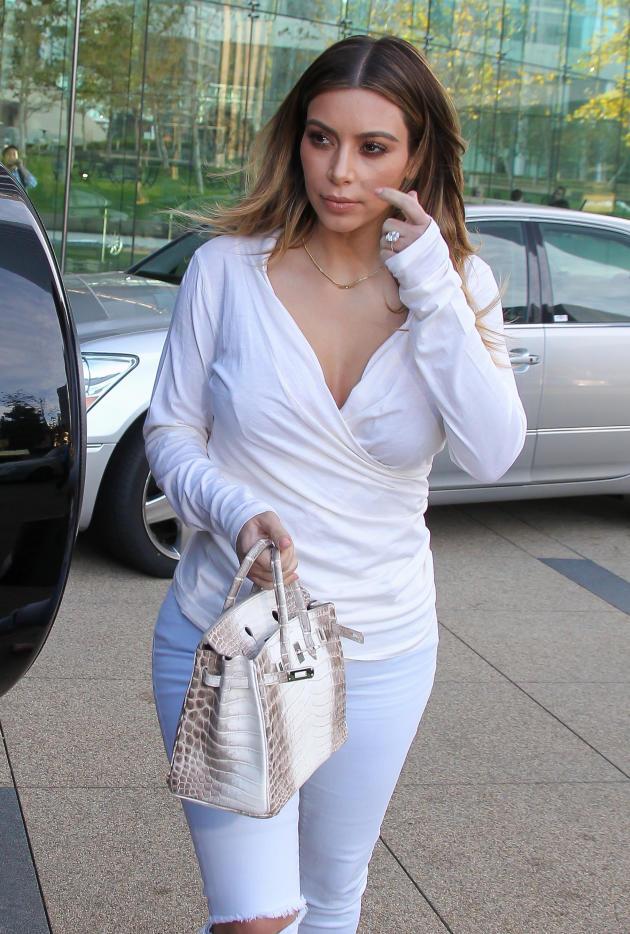 Kim Kardashian on a Stroll