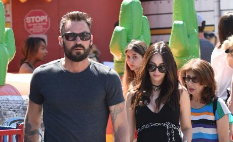 Megan Fox and Brian Austin Green Take Sons to Farmers Market