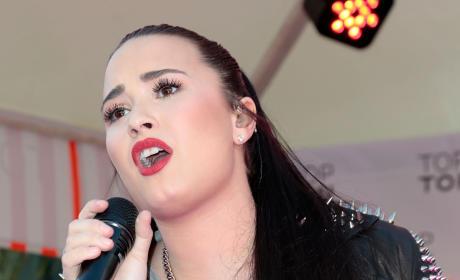 Demi Lovato at the Grove