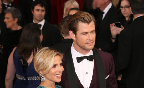 Elsa Pataky and Chris Hemsworth at the Oscars