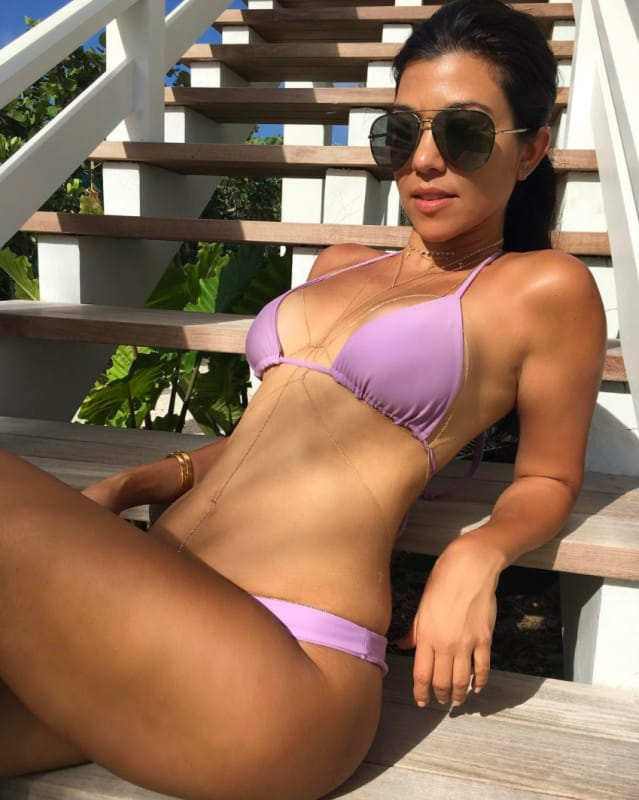 Kourtney Kardashian Bikini Photo on Instagram