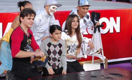 Michael Jackson Kids at Handprint Ceremony