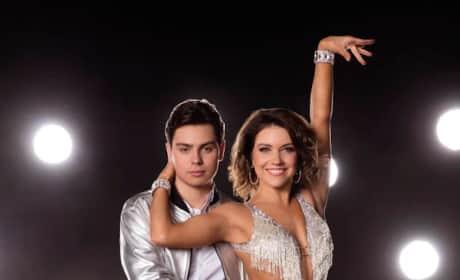Jake T. Austin and Jenna Johnson