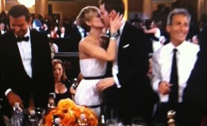 Nicholas Hoult Kisses Jennifer Lawrence at Golden Globes: OMG!