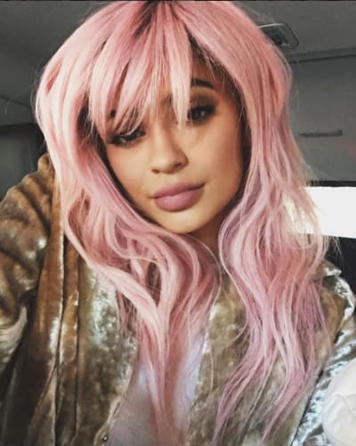 Kylie Jenner with pink hair