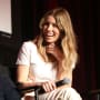 Jessica Biel Sits and Laughs